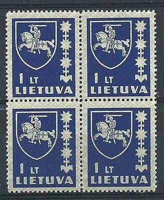 Russia Lithuania 1937 Sc# 305 Arms 1L block 4  MNH