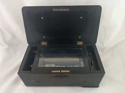ANTIQUE CIRCA 1800 s SWISS CYLINDER MUSIC BOX BY QUALITE EXCELSIOR SUPERETRA