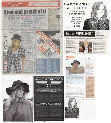 LADYHAWKE : CUTTINGS COLLECTION -adverts interviews-