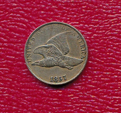 1857 Flying Eagle Cent **nice Circulated Very Fine Coin** Free Shipping!!