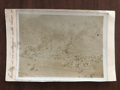 China Old Postcard With Photo View City Sian From Air Plane !!