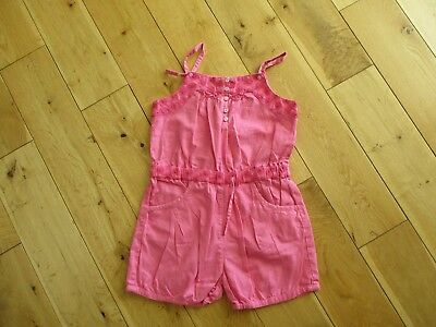 MONSOON Girls 100% Cotton Pink  Playsuit age 8 - 9 yrs