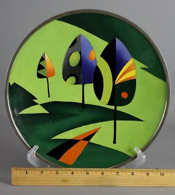 RARE! Mid-Century Modernist Abstract OTA Japanese Cloisonne Plate Landscape
