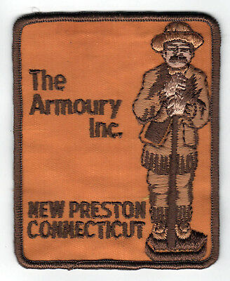 THE ARMOURY INC New Preston Connecticut VINTAGE PATCH Gun Shop SHOOTING Hunting