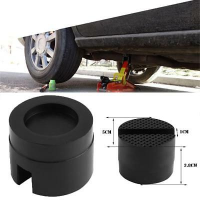 1x Universal Car Slotted Frame Rail Floor Jack Disk Rubber Pad Adapter Protector