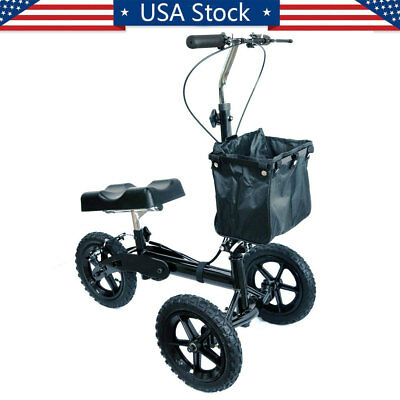 Steerable Knee Walker All Terrain Knee Scooter Heavy Duty Crutches Alternative