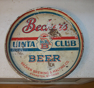 Becker's Beer Tray Evanston WY Wyoming