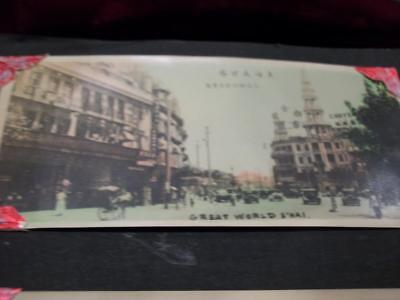 "Vintage 2""x4"" Chromo Print Shanghai Great World"