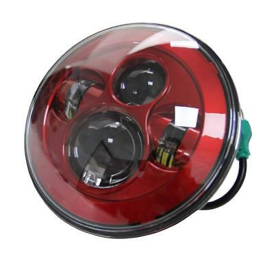 """7"""" Red Motorcycle Projector Daymaker LED Light Bulb Headlight For Harley Touring"""