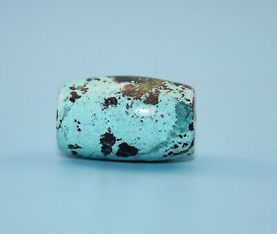 27*16 mm Antique Undressed dzi turquoise old Bead from Tibet **Free shipping**