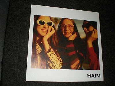POSTER by HAIM LIMITED EDITION promo flat For the bands album cd sisters