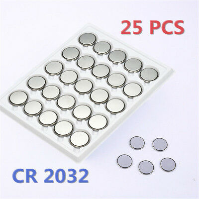 25PCS CR2032 CR 2032 3 Volt Button Cell Coin Battery for Toy Remote Watch New