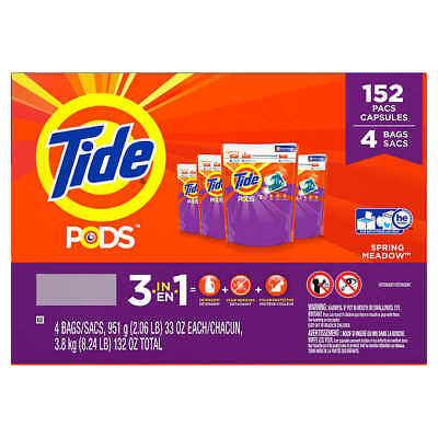 Tide Pods Laundry Detergent, Spring Meadow (152 ct.)