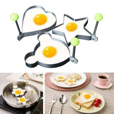 3PCS Fried Egg Shaper Stainless Steel Form Cooking Kitchen Rings Metal