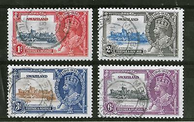 SWAZILAND 1935 Used Silver Jubilee Complete Set of 4 SG #21-24