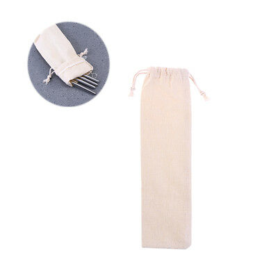 Thicken Pouch Bag Resuable Straw Carrying Bag Straws Case for Cutlery Fork Spoon