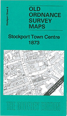 Old Ordnance Survey Map Stockport Town Centre 1873 Daw Bank Waterloo Road