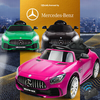 Mercedes-Benz Kids Ride On Car Licensed AMG GTR Electric Toy Battery Remote Pink
