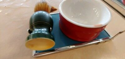 Men's Vintage Shaving Kit With Folding Mirror And Horse Head Detail