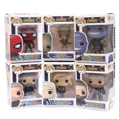 FUNKO POP Marvel Avengers Spider-Man Groot Iron Man Action Figure Collectible