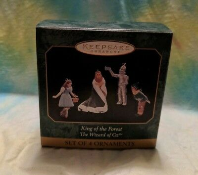NIB Hallmark Keepsake Ornament Wizard of Oz King of the Forest 4 mini ornaments