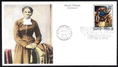 US CIVIL WAR ABOLITIONIST HARRIET TUBMAN Stamp Mystic First Day Cover 5206z