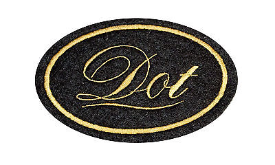 CLASSIC BSA GOLDEN FLASH EMBROIDERED CURVED MOTORCYCLE PATCH