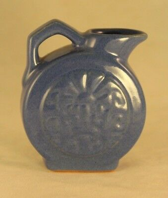 Vintage FRANKOMA Ada Clay Mini Aztec Pitcher #551 - Royal Blue