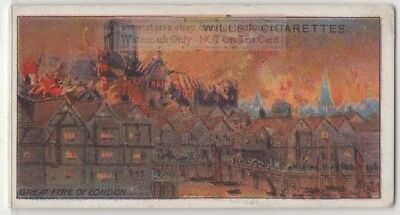 1666  Great Fire Of London England  100+ Y/O Ad Trade Card