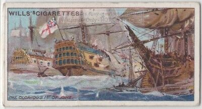 Glorious First of June 1794 Naval Battle France England 100+ Y/O Ad Trade Card