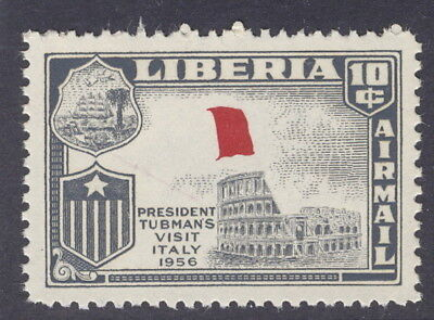 Liberia 1958, Visit to Italy, green color of flag MISSING, NH #C114