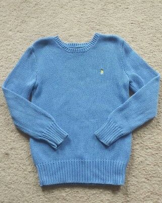 Youth Boys Polo By Ralph Lauren Periwinkle Blue Sweater  Sz S (8)  ** Nice **