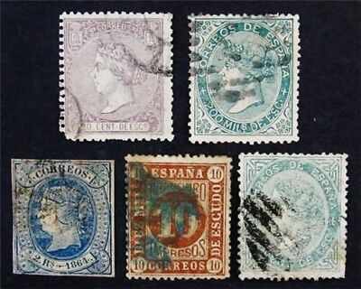 nystamps Spain Stamp # 66 // 101 Used $80