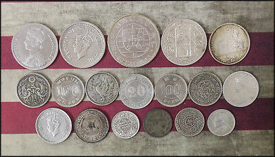 3.8 troy ounces World SILVER Coins Japan India Russia China etc Old Lot
