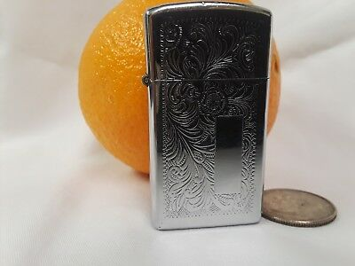 Vintage zippo lighter not engraved beautiful floral pattern