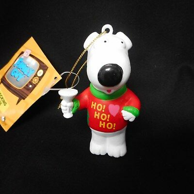 """NEW """"Family Guy"""" Brian the Martini-Drinking Dog Ornament"""