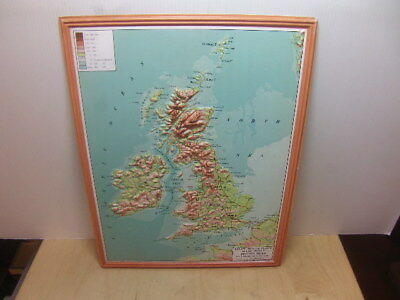 Philips Smaller Plastic Relief Models – map of British Isles 1958 in box