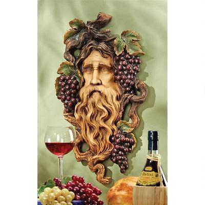 "God Of The Grape Harvest Mythical Greenman Design Toscano 22½"" Wall Sculpture"