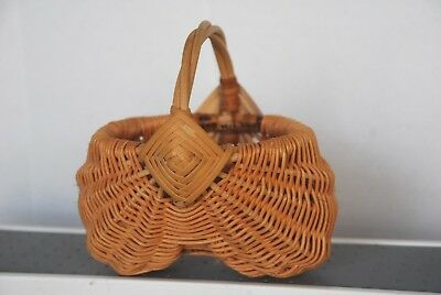 Hand Crafted miniature buttocks basket signed
