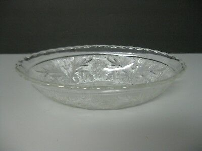 Serving Bowl Embossed Dots and Scrolls Scalloped Rim
