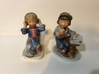 """GOEBEL,  W Germany LOT OF 2 LARGE FIGURINES """"TODAY'S CHILDREN"""" 1978"""