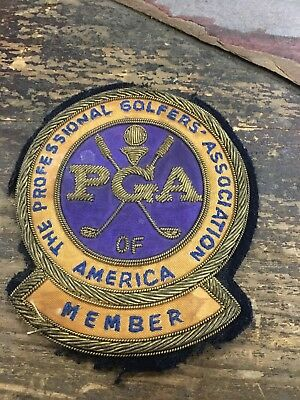 Vintage PGA Professional Golfers Association Member Bullion Patch