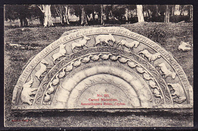 Ceylon Postcard Carved Moonstone #283