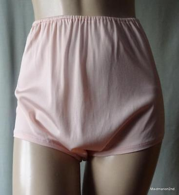 free shipping best price shop for official VINTAGE SILKY SOFT PEACH ACETATE LOOSE LEG PANTIES~KNICKERS ~ CC41 LABEL  ~Med