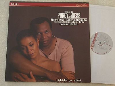 GEORGE GERSHWIN - Porgy and Bess - Simon Estes - Promo LP Philips 1985 NM