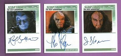 Lot of 6 Different Autograph Cards: Star Trek TNG Heroes & Villains