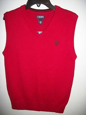 Chaps Boys size 14/16 NWT's Red Sweater Vest~