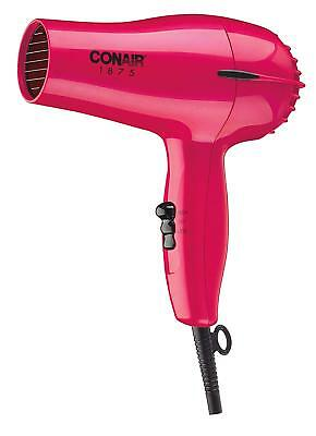 Professional Conair 1875 Watt Mid Size Styler Blow Hair Dryer White And Red 1ea