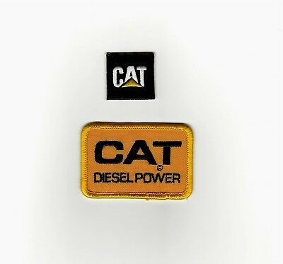 2 CAT Diesel Power Patches.MINT Large/Small Fast same day Shipping.Caterpiller
