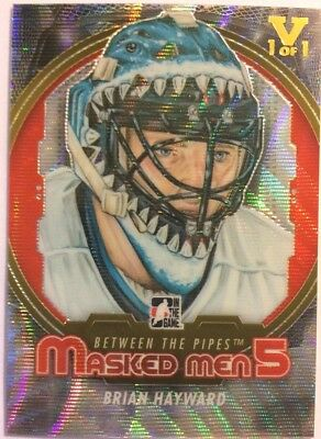 2012-13 Between The Pipes Masked Men 5 Silver Brian Hayward Vault Gold 1 of 1